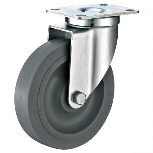 Medium Duty, Top-plate TPR wheel caster-Swivel/Fix/Break