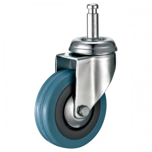 Grip ring Grey rubber caster-Swivel/Break