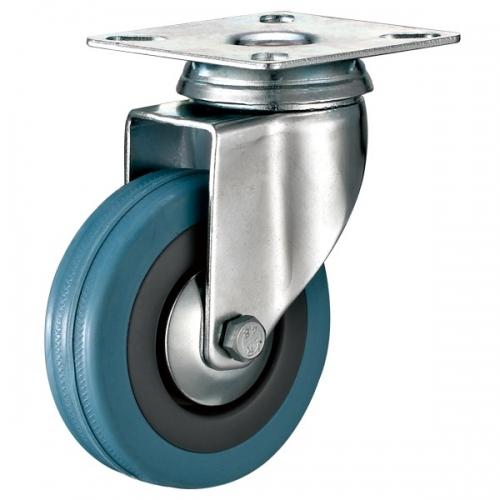Top-plate Grey rubber caster-Swivel/Fix/Break