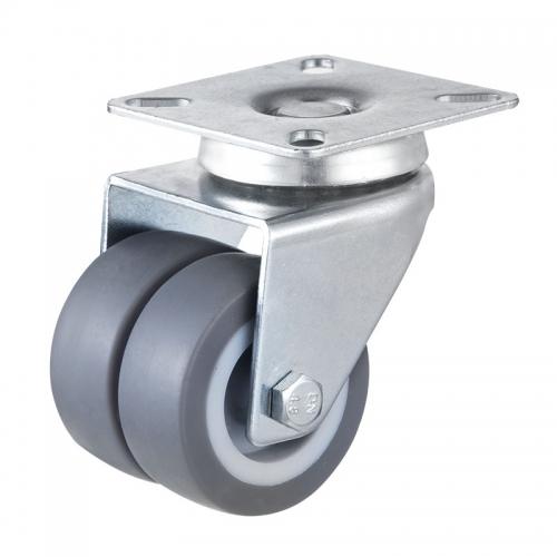 Top-plateTwin wheel caster-Swivel/Fix/Break