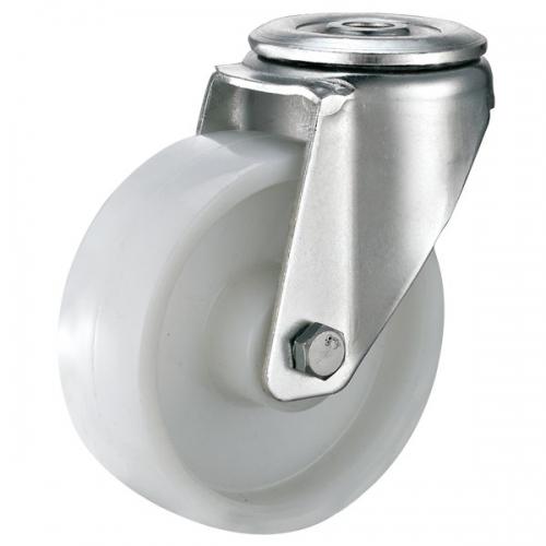 Bolt hole rubber wheel caster-Swivel/Break